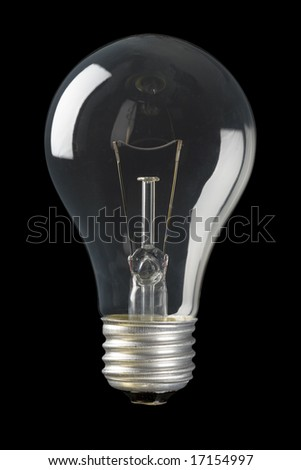 Light bulb isolated on a black background