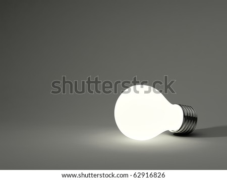 Light bulb isolated on grey background