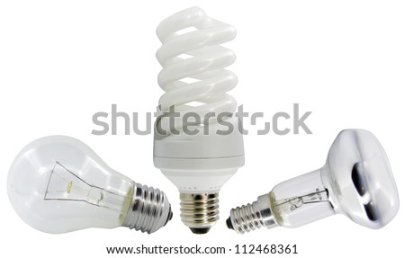 light bulb isolated on white. - stock photo