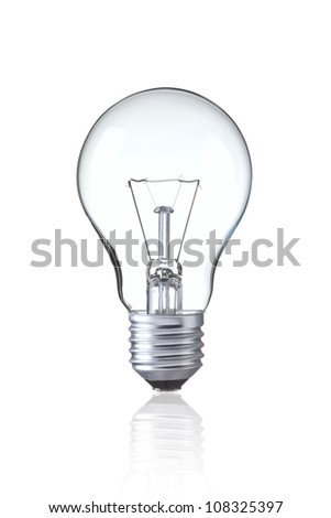 Light bulb isolated on white,  Realistic photo image - stock photo