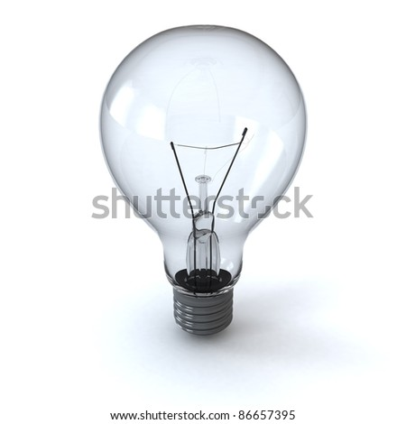 light bulb isolated on white with shadow