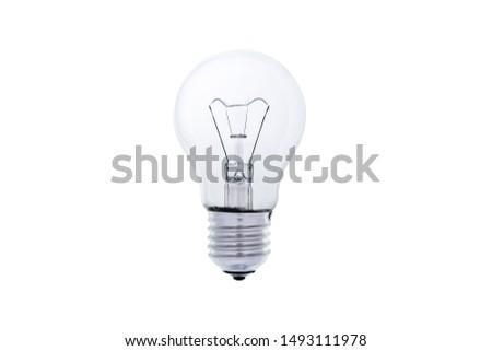 Light bulb, isolated, Realistic photo image, Light bulb on white background. #1493111978