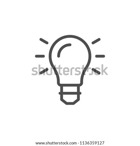 Light bulb line icon isolated on white