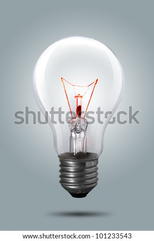 Light bulb on background