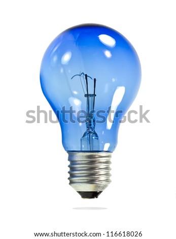 Light bulb on isolated white background. - stock photo