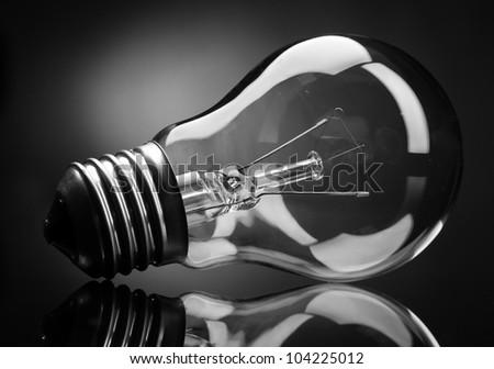 Light bulb on white background - stock photo