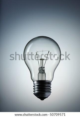 Light Bulb over gray background #50709571