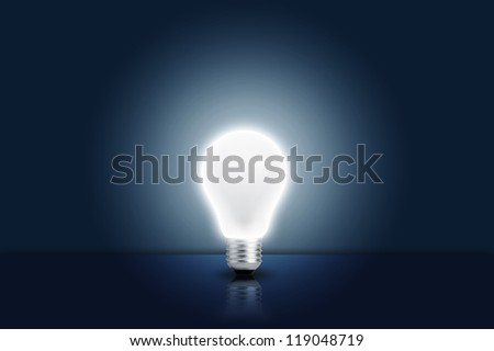 Light bulb turn on. Concept for ideas