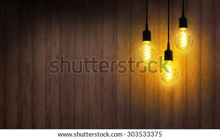 Light bulb turned on. - Shutterstock ID 303533375