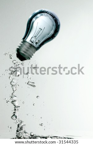 Light bulb underwater
