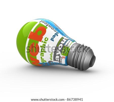 Light bulb web concept