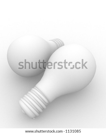 light bulb white on white