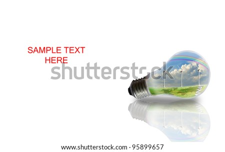 Light Bulb with Turbine Power Generator