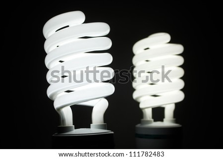 Light bulbs in row.