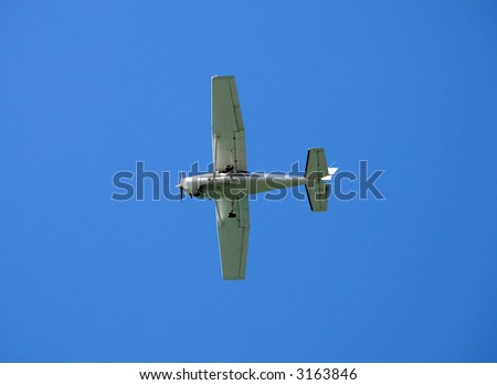 Light Cessna private airplane