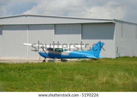Light Cessna propeller driven airplane