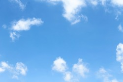 Light clouds white on bright bluesky background and copy space