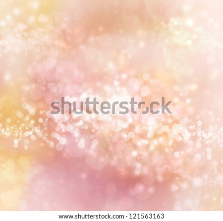 Light Colored Pink - Orange Abstract Lights Background