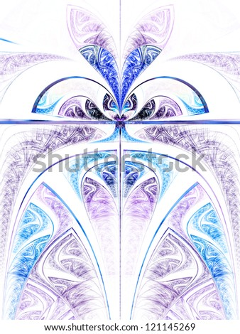 Light colorful flower or butterfly, digital fractal art design