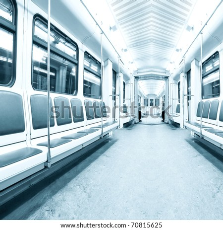 light contemporary illuminated carriage interior