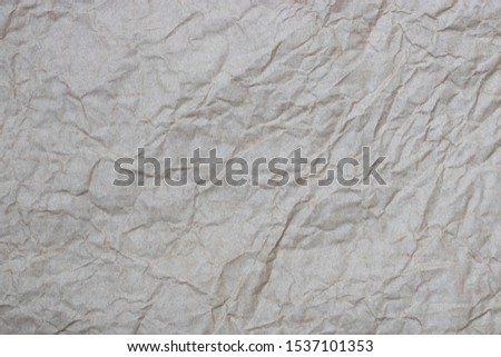 Light crumpled crumpled packaging paper texture #1537101353