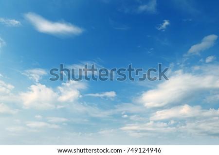 light cumulus clouds in the...