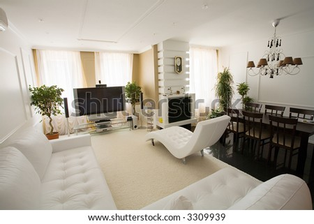 Light Drawing Room In Modern Interior Stock Photo 33099