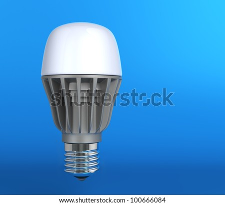 light-emitting diode lamp in blue background