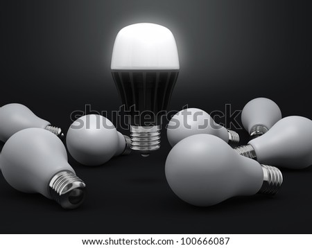 light-emitting diode lamp with some old bulbs