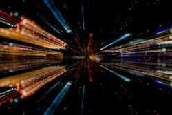 Light fiber abstract concept