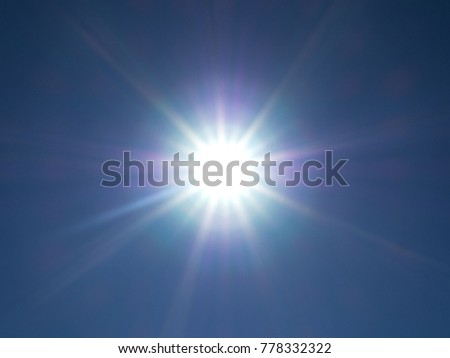 Light Flare. Beautiful rays of different spectrum. Specially not in focus. #778332322