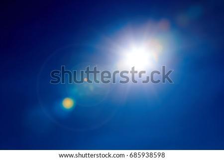Light Flare. Sun Flare Isolated. #685938598