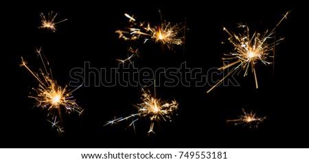 light from gunpowder sparking after burn #749553181