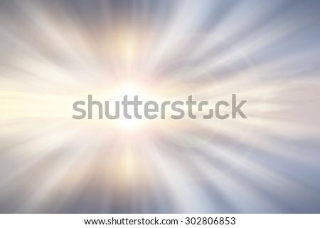 light from the sun shining
