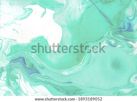 Light Geometric Oil Resin, Tie Dye Design . White Dyed Japanese Marble, Fluid Effect, Forest Green Watercolor . Aquamarine Liquid Ink Stains Stock photo ©