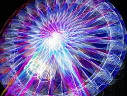light glowing colours of Easter Show with a camera Slow Shutter movement producing beautiful lighting rainbow colouful effects
