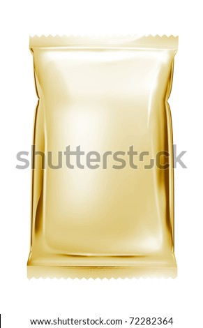 light gold aluminum foil bag package