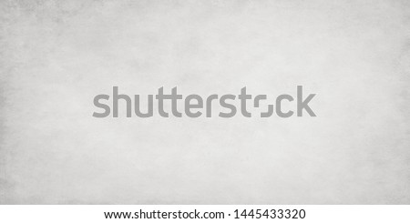 Light gray low contrast texture.Old stained paper wallpaper for design work with copy space. #1445433320