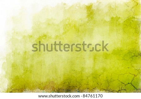 light green background wall; retro style.