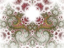 Light green nature-themed fractal