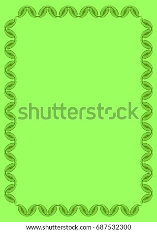 light green solid background with abstract vertical frame copy