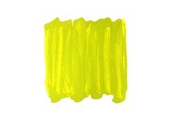 Light green watercolor stripes or brush on white background