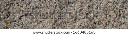 Light grey clay brick and mortar wall in. wallpaper background.  Place for text, title Stock photo ©