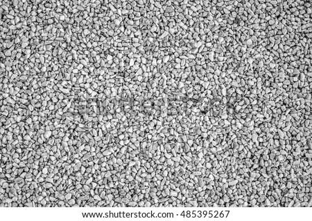Light grey gravel (Pebble) floor texture, top view.