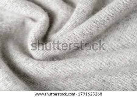 Light grey luxury pure cashmere texture as  background with copy space Сток-фото ©
