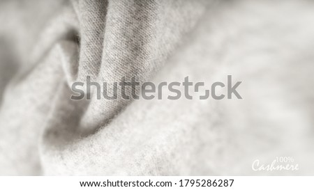 Light grey luxury pure cashmere texture. Blurred background with copy space Сток-фото ©