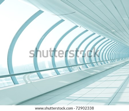 light hall in metro station