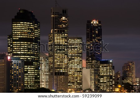 Light in Brisbane down town Australia