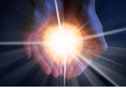Light in hand.