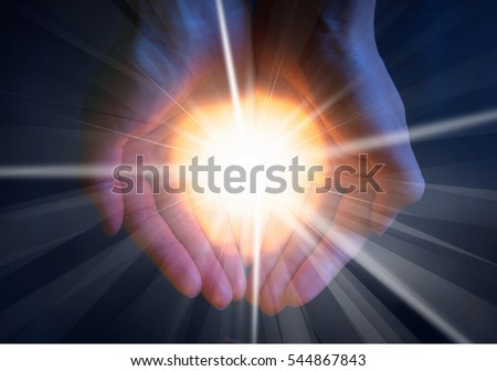 Light in hand.